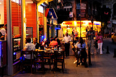Roadside Cafe in Istanbul Stock Images