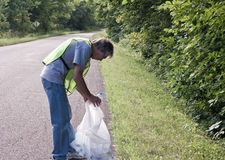 Roadside cleanup Royalty Free Stock Photos