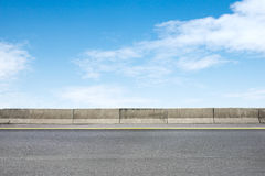 Roadside and concrete. On blue sky Stock Images