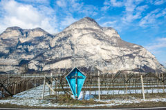 Roadside cross in South Tyrol Stock Image