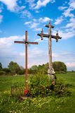 Roadside crosses Stock Photography