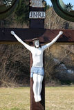 Roadside Crucifix Stock Photos