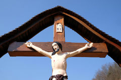 Roadside Crucifix Royalty Free Stock Image