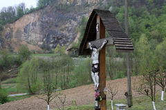 Roadside Crucifix Royalty Free Stock Photo