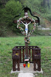 Roadside Crucifix Royalty Free Stock Photography