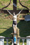 Roadside Crucifix Royalty Free Stock Photos