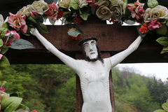 Roadside Crucifix Stock Photography
