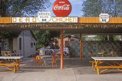 Roadside diner on Historic Route 66, Seligman, AZ Stock Photo