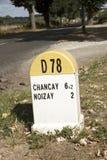 Roadside distance marker Stock Photography