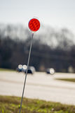 Roadside and driveway marker reflector Stock Photography