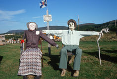 Roadside dummies Stock Photos