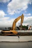 Roadside Excavator Stock Image