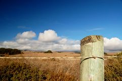 Roadside Fence Post Royalty Free Stock Photos