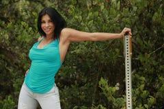 Roadside fit girl Stock Photo