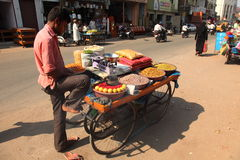 Roadside food stall Royalty Free Stock Images