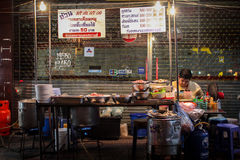 Roadside food stalls in Thailand. Royalty Free Stock Photography