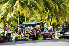 Roadside fruit market in San Jose  Costa Rica Stock Image