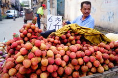 The roadside fruit stalls Royalty Free Stock Images