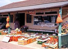 Roadside fruit and veg shop, Eveahsm. Stock Images