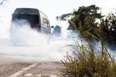 Roadside grass fires. Stock Photos