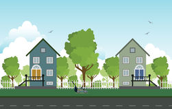 Roadside houses. Royalty Free Stock Photography
