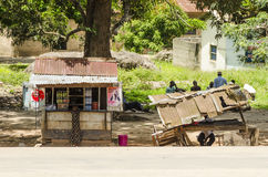 Roadside kiosk Tanzania Royalty Free Stock Image