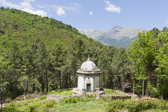 Roadside mausoleum in Corsica, France Royalty Free Stock Images