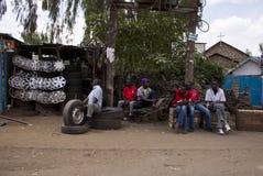 Roadside mechanic Royalty Free Stock Photos
