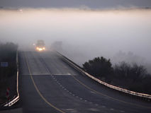 Roadside mist. Mist going over a road Stock Photography