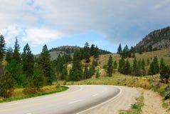 Roadside mountain view Royalty Free Stock Photos