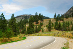Roadside mountain view Stock Images