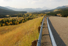 Roadside mountains and forests Stock Image
