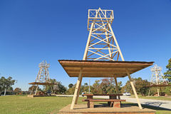 Roadside Park Oil Wells Stock Photography