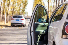 Roadside parked car Royalty Free Stock Photo