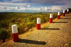Roadside Pillars Royalty Free Stock Photo