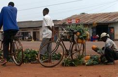 A roadside pineapple stall, Uganda Royalty Free Stock Image
