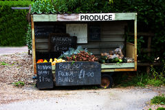 Roadside produce cart. Image of a roadside produce cart in southern England stock image