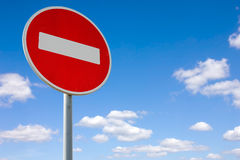 Roadside red stop sign Royalty Free Stock Images