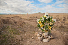 Roadside Rememberance Site Stock Images