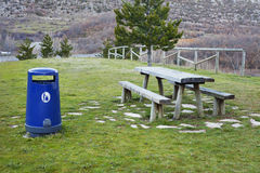 Roadside Rest Area. In Northern Spain royalty free stock photos