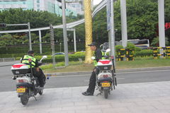 The roadside rest of the patrol in SHENZHEN Stock Photo