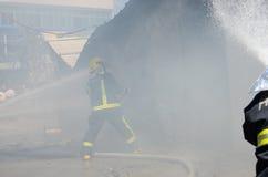 Roadside restaurant fire site Stock Images