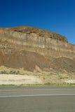 Roadside rock cliff Royalty Free Stock Photos