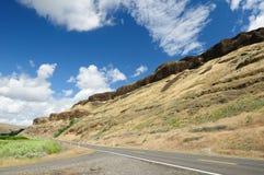 Roadside rock cliff Stock Photo