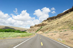 Roadside rock cliff Royalty Free Stock Photography
