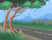 Roadside scene vector transport nature Stock Photo
