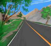 Roadside scenery. Illustration roadside scenery,transportation nature landscape background Stock Photography