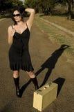 Roadside shadow Stock Image