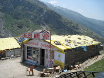 Roadside shops in the Himalayas Stock Photography