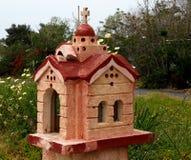 Roadside Shrine On The Island Of Cret. Roadside shrine in the form of a Greek Orthodox Church in Crete Greece Royalty Free Stock Photo